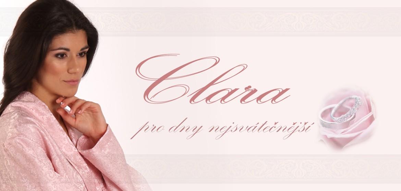 Clara luxusní dámský brokátový župan krémový